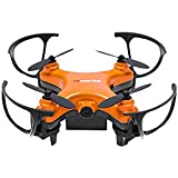 WonderTech Orion RC Duadcopter Drone With HD Camera, 6-Axis Gyro Remote Control Flying Toys for Kids and Adults, Color Orange
