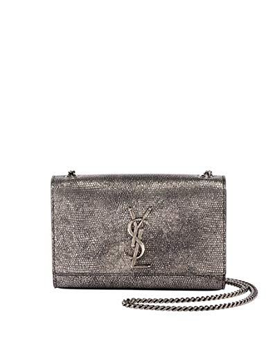 Image Unavailable. Image not available for. Color  Saint Laurent Kate  Monogram YSL Small Metallic Lizard-Print Crossbody Bag Made in Italy 1e2f9d0cde