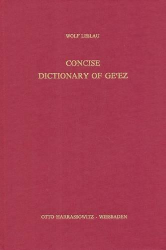 Concise Dictionary of Ge'ez (Classic Ethiopic)