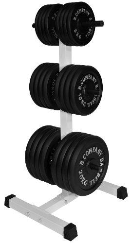 Pro Hantelscheibenständer Hantel-Ablage 30/31mm - Maximale Gewichtsbelastung bis zu 150 Kg ca. 56,5cm lang / 52cm breit / 111cm hoch BCA-98