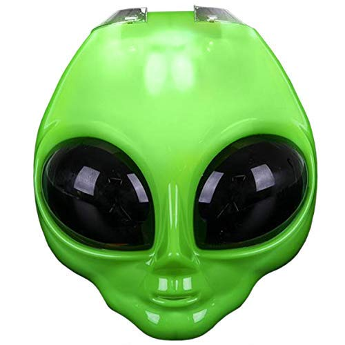 Rhode Island Novelty LED Light-Up Flip Green Alien Space Costume Mask ()