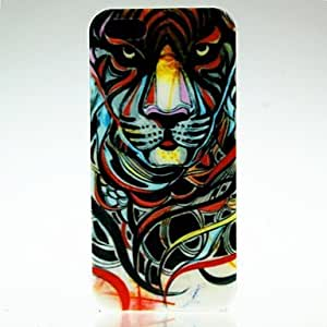 Colorful Lines Tiger Pattern Case for iPhone 5/5S