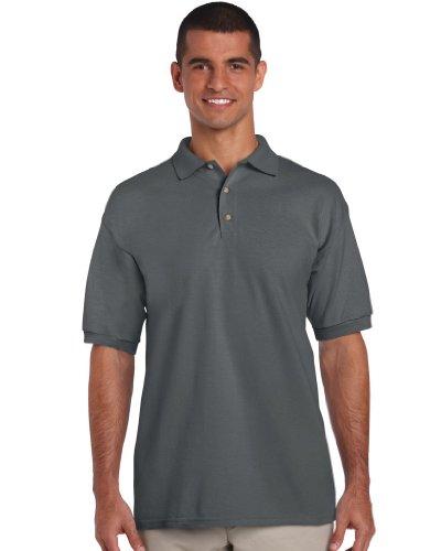 Heavy Piqué Poloshirt, Farbe:Charcoal;Größe:S