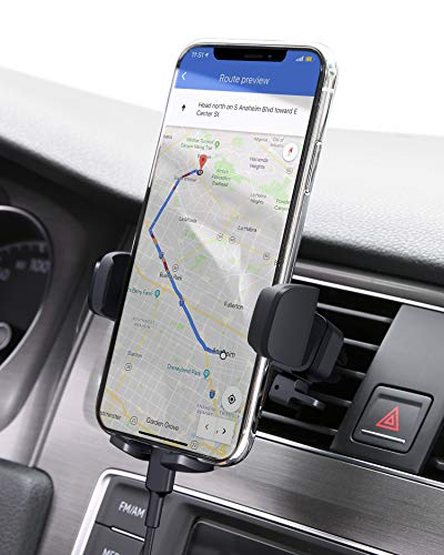 AUKEY Car Phone Mount Air Vent Cell Phone Holder for Car Compatible with iPhone 11/11 Pro/Xs/XS Max / 8/7 / 6, Google Pixel 3 XL, Samsung Galaxy S9+, and Other Phones, Black