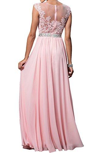Langes Braut Spitze Flieder mia A La Rock Ballkleider Partykleider Linie Abendkleider Brautmutterkleider Damen Chiffon H5qIO4tw