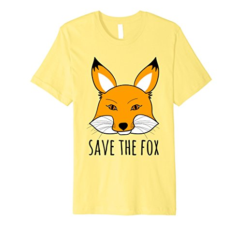 Mens SAVE THE FOX T-Shirt | Animal rights Shirt 3XL (Men's Rights Activist Halloween Costume)