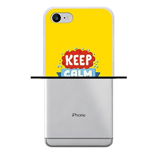 WoowCase Hülle Case für [ iPhone 7 ] Handy Cover Schutzhülle Keep Calm and Start Doing