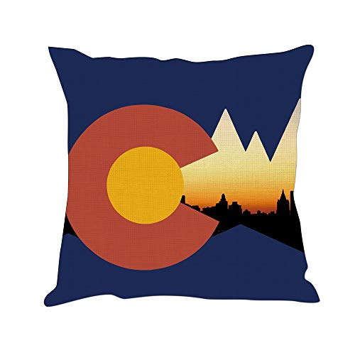 Tom Boy Colorado State Flag Throw Pillow Covers Home Decorative USA Throw Pillowcases Couch Cases 18