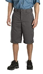 Dickies Mens 13 Inch Regular Fit Shadow Stripe Short, Graphite Grey, 34