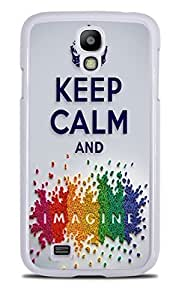 Keep Calm and Imagine Rainbow White Hardshell Case for Samsung Galaxy S4 by ruishername