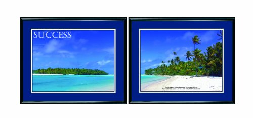 - ADVANTUS Panorama Framed Motivational Prints, Success, 30 x 24 Inches, Black Frames, 2 Prints per Pack (78166)