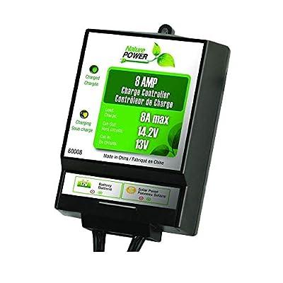 Nature Power 60008 8-Amp/130-Watt 12-Volt Solar Power Charge Controller : Solar Panels : Garden & Outdoor
