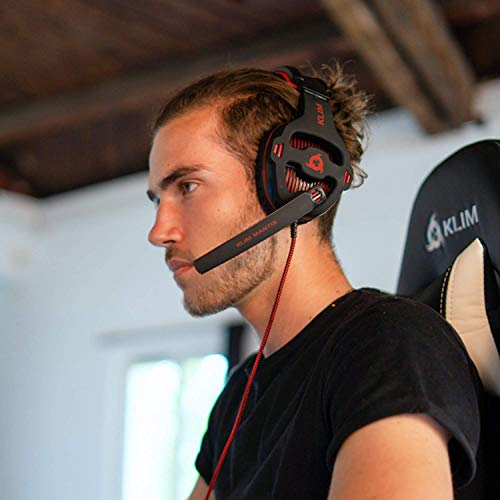 KLIM Mantis - Gaming Headphones - USB Headset with Microphone - for PC, PS4, Nintendo Switch, Mac, 7.1 Surround Sound - [ New 2021 Version ] - Noise Cancelling Gaming Headset
