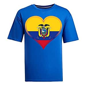 Brasil 2014 FIFA World Cup Mens Football Background Short Sleeve Cotton T-shirt for Fans blue