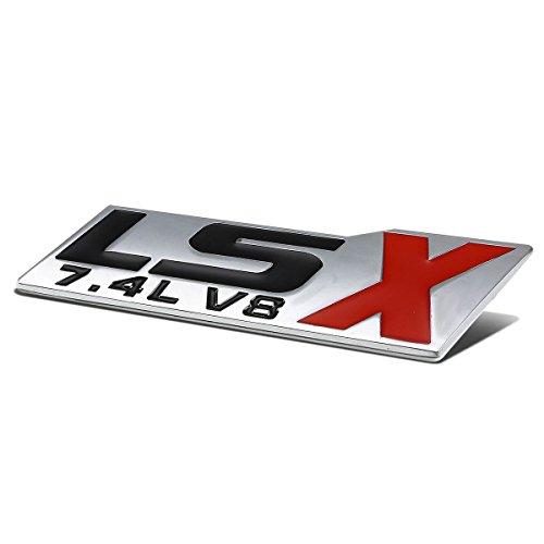 Metal Emblem Decal Logo Trim Badge 7.4L LSX V8 (Black & Red)