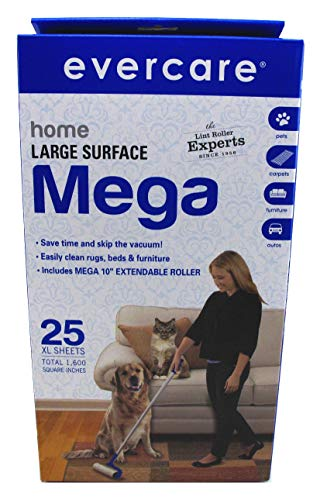 Evercare Mega Cleaning Roller With 3-Foot Extendable Handle,25 sheets