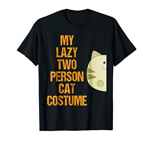 Cat 1 Matching Couple Costumes Funny Easy Halloween Shirt -
