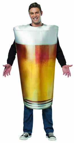 Rasta Imposta Beer Pint Costume, Gold, One Size