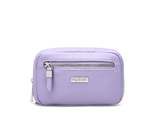 Myabetic James Diabetes Compact Case for Glucose Meter, Test Strips, Lancing Device and Lancets Includes Insulation Pocket - High Quality Compact Design (Lavender) ()