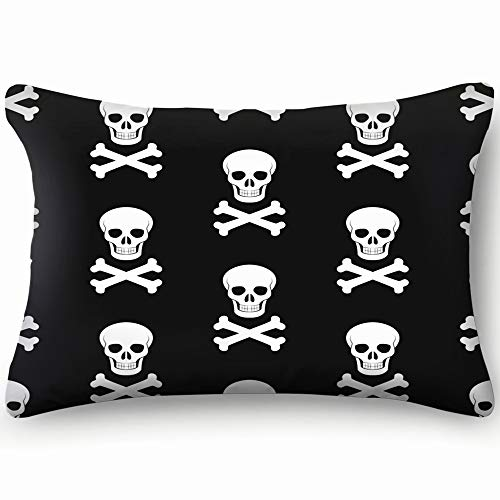 (best bags Halloween Skull Bones Backdrop Holidays Pillowcases Decorative Pillow Covers Soft and Cozy, Standard Size 14