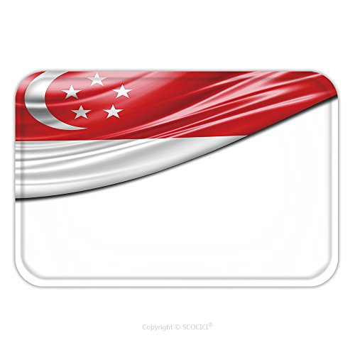 Flannel Microfiber Non-slip Rubber Backing Soft Absorbent Doormat Mat Rug Carpet Singapore Flag Of Silk With Copyspace For Your Text Or Images And White Background 319560380 for (White Rabbit Singapore Halloween)