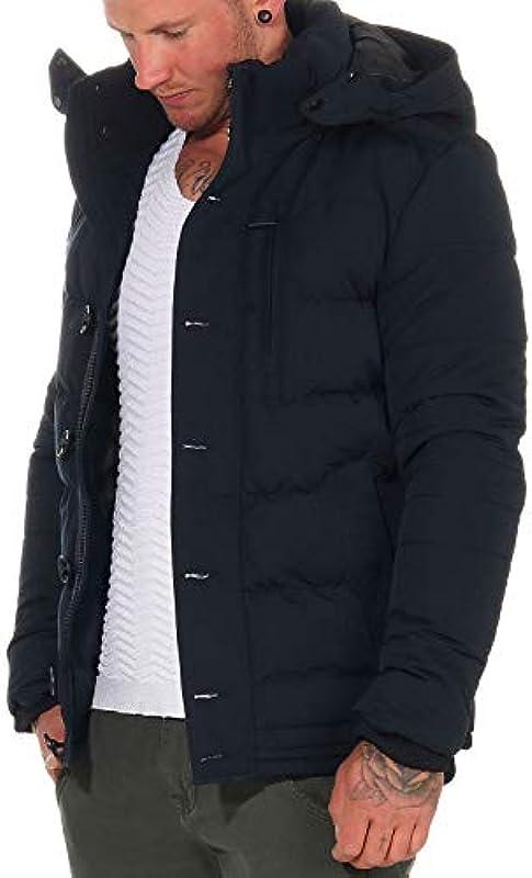 Poolman P1904793 męska kurtka pikowana z kapturem: Odzież