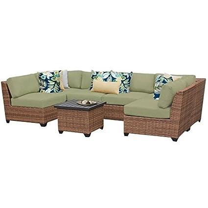 Amazon.com: TK Classics 7 pieza Laguna Muebles de mimbre al ...