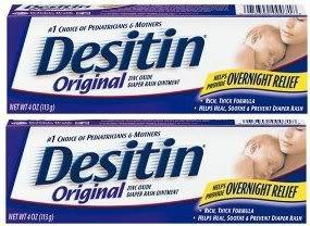 Desitin Original Zinc Oxide Diaper Rash Ointment Tube 4 Oz (Pack of - Original Ointment Diaper Desitin Rash
