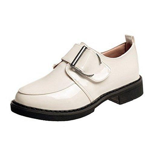 Giy Kvinners Klassiske Wingtip Oxfords Sko Flat Slip-on Spenne Blokk Hæl  Kjole Loafer Oxford