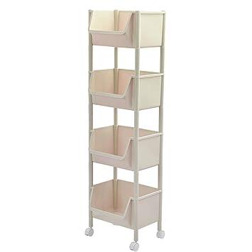 *carrito verdulero cocina Estante de almacenamiento doméstico Estante de acabado móvil de múltiples capas Estante del ...