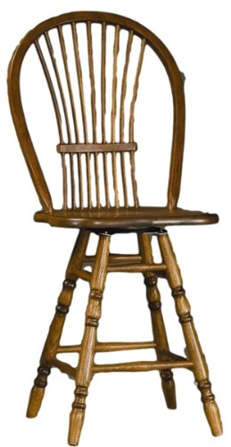 Brooks Furniture 1024-14 Sheaf Bow Bar Stool, Legacy Oak Finish -