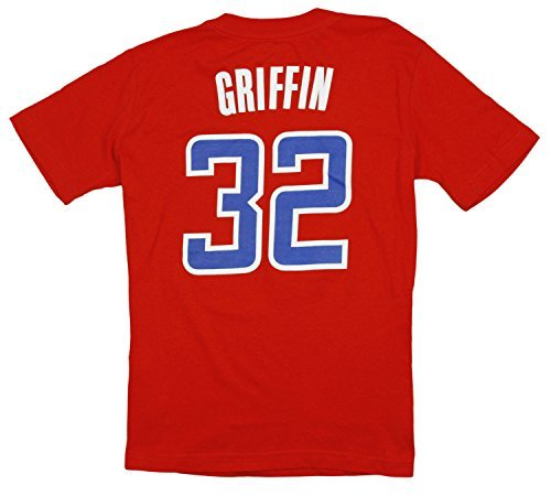 Los Angeles Clippers NBA Little Boys Blake Griffin #32 Short Sleeve Tee, Red (Medium (5-6), Red)