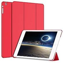 iPad Mini Case, JETech iPad Mini Case for Apple iPad Mini 1/2/3 Slim-Fit Folio Smart Case Cover with Auto Sleep/Wake Feature (Red) - 0476