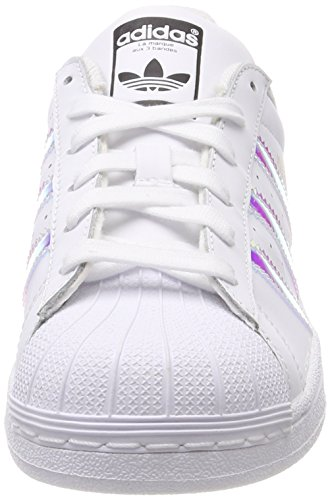 adidas White Kinder Metallic Silver Top Low White Superstar sld Weiß Unisex Ftwr Ftwr J vrUAvq