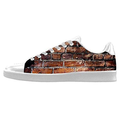 Custom struttura del muro di mattoni Mens Canvas shoes I lacci delle scarpe in Alto sopra le scarpe da ginnastica di scarpe scarpe di Tela.