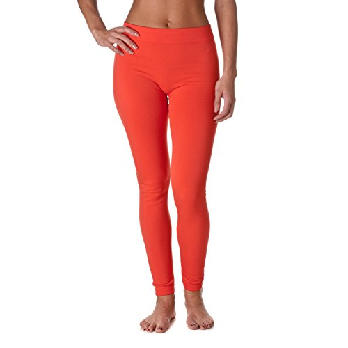New Fashion MIC Riverberry Premium Heavy Weight Fleece Lined Legging, Coral, Size One Size for cheap