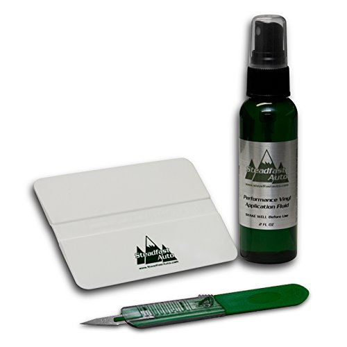 - Steadfast Auto 51997 - Vinyl Decal Installation Kit - Application Fluid, Squeegee, Trim Knife