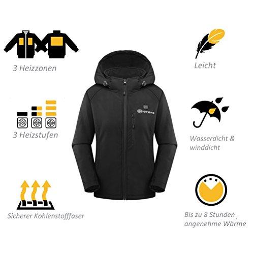 Mujer Ororo Ororo Heated Negro Jacket Jacket Mujer Heated gnpZUqI4