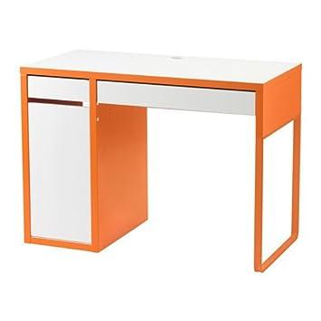 Ikea Micke Schreibtisch In Weißorange 105x50cm Amazonde Küche