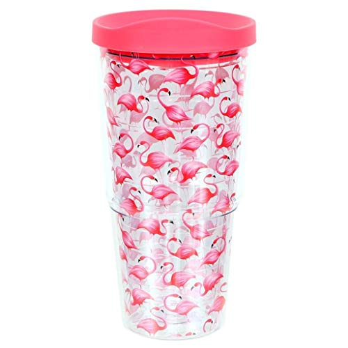 DEI 63096 Flamingo Insulated Tumbler, 24oz, -