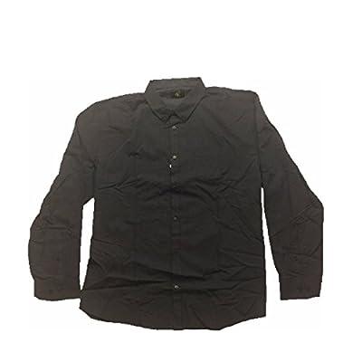 Calvin Klein Brushed Cotton Dress Shirt - Navy/Black Striped - XX-Large