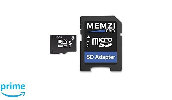 MEMZI PRO 16 GB 90 MB/s Clase 10 Tarjeta de Memoria Micro ...
