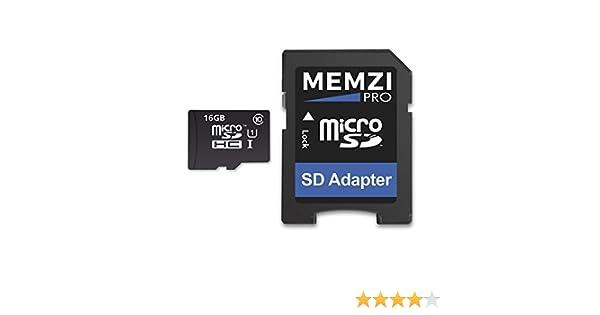 Memzi Pro 16 GB Clase 10 90 Mb/s tarjeta de memoria Micro SDHC con ...