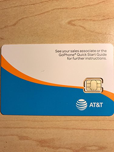 AT&T GoPhone Prepaid Activation Kit (Nano Sim Card) with $45 Air Time