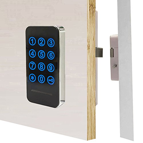 - Electronic Cabinet Lock Kit Set, Digital Touch Keypad Lock, Password Entry and RFID Card / Wristband Entry, Keyless Door Lock Knob