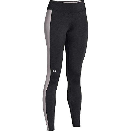 Under Armour Coldgear Cozy Legging - Women's Black / Ivory / Metallic Silver XL