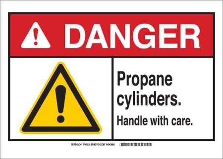 "BRADY 145225 Aluminum ""DANGER Propane cylinders. Handle w..."