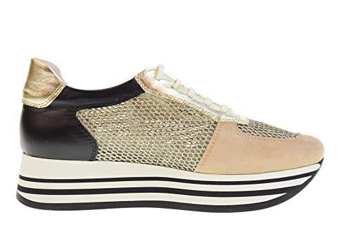 Antica Negro gold 20816 Mujeres Cuoieria ag4 b Black Glitter Amalfi Zapatillas Zapatos Oro Bajas rUwg7rq