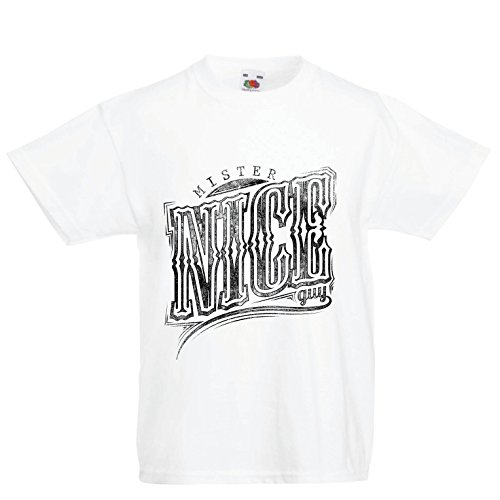 lepni.me Camiseta Niños/Niñas Mister Nice Guy - Eslogan sarcástico, gráficos Divertidos, Frases Divertidas - Ideas...