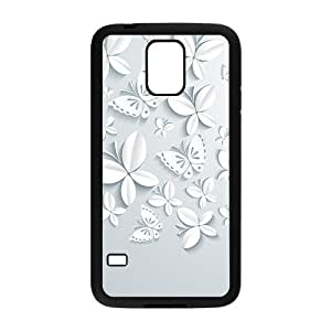 Butterfly And Flower Hight Quality Plastic Case for Samsung Galaxy S5